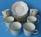 16 PCs SET CHAMART FRANCE LIMOGES 8 CUP SAUCER GILT TEA COFFEE SERVICE-LOVELY!