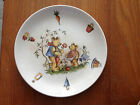 Bear Plate Staffordshire England Old Foley James Kent 17 Cake Red Blue Green 7