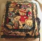 HANDCRAFTED LACE TRIM TEDDY BEAR 3 RING PHOTO ALBUM / SCRAPBOOK-ADORABLE
