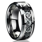 Fashion Silver Celtic Dragon Titanium Stainless Steel Mens Wedding Band Rings
