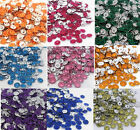 100pc Acrylic Faceted Sunflower Rhinestone Beads Craft Jewelry Making Findings