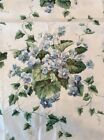 Sweet Violets Waverly Fabric Blue 100% Cotton Chintz 56x108 3 Yard Screen Print