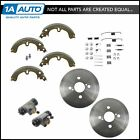 Rear Brake Drum Shoe Spring  Wheel Cylinder Kit for Toyota Corolla Chevy Prizm