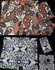 Plush Velour Paisley Jacobean or Medallion 3-Pc Kassa Fina Towel Set NWT DISC