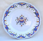 French Rouen Scalloped Decorative Plate Hand Painted Faience