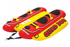 AIRHEAD Hot Dog 4 Rider Towable Inflatable Boat Lake Tube Up To 4 People  HD 4