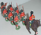 Old Plastic BRITAINS Herald, 8 Gordon Highlanders Marching w/Mtd Officer, 1960s