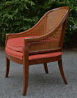 Vintage Baker cane back lounge chair mid century modern