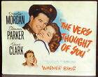 Eleanor Parker The Very Thought of You Original 1944 Lobby TITLE Card Morgan