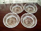 G  MEAKIN BROWN TRANSFERWARE AMERICANA IRONSTONE CEREAL BOWLS-UK