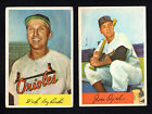 2 ORIOLES LOT 1954 BOWMAN #117 DICK KRYHOSKI #85A JIM DYCK