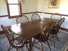 D R Dimes Set of Six Windsor Chairs Two Continuous Arm Chairs Four Loop Back