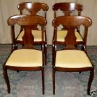 ETHAN ALLEN CHERRY DINING SIDE CHAIRS Saber Legs, T Backs, Set of 4 VINTAGE