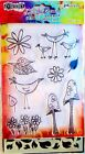 Garden Leaves Dylusions Clear Acrylic Stamp  Stencil Set DYZ48367 NEW