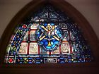 + Fine Older Stained Glass Holy Spirit Window + Shipping available +