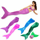 Girls Womens Bikini Swimming Costume Swimsuit Swimmable Mermaid Tail OR Monofin
