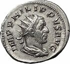 PHILIP I the Arab 247AD Silver Ancient Roman Coin Good luck Commerce i55469
