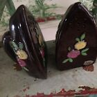 Vintage MC Ceramic Salt And Pepper Shakers Set Brown Shaped Steam Iron Japan