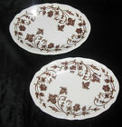 2 Royal-Staffordshire-J-G-Meakin brown Transferware Windsong Oval Platter