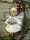 PRIMITIVE PATTERN ON CD/CHRISTMAS/ANGEL/TREE /ORNAMENT/ORNIE/VINTAGE STYLE/PT126
