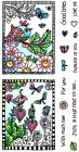 Love with Birds Clear Color Me Coloring Stamps Acrylic Stamp Set SC0722 NEW