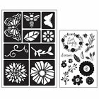 Flowers  Bugs 22 pc Art C Clear Acrylic Stamp  Adhesive Stencil Set 26882 NEW