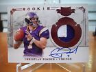2011 Plates & Patches Christian Ponder Autograph Patch Rc #208 Serial # 299