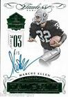 RARE 4 5 MARCUS ALLEN SIGNED 2015 PANINI FLAWLESS GREEN PARALLEL CARD HOF AUTO
