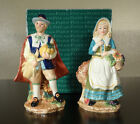 FITZ AND FLOYD HARVEST HERITAGE PILGRIM SALT PEPPER SHAKER THANKSGIVING POTTERY