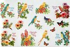 LOVELY FLOWERS BLUE BIRD BUTTERFLY SAYINGS STICKERS SEALS Acid Free USA MADE 8