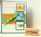 STAMPIN UP Rock a bye baby stamp use su scallop oval punch zoo babies