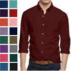 Alta Mens Long Sleeve Button Down Cotton Slim Fit Pointed Collar Dress Shirt