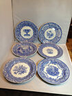 6 Spode Blue Room Collection Dinner Plates Various Patterns Made In England