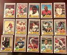 1984 Topps USFL Lot Of 78 Different Cards With Box
