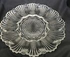 Vintage Heavy, Clear Glass Deviled Egg Dish, Oyster Plate Tray, 9-3/4