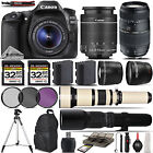 Canon EOS 80D Digital SLR Camera + 18 55mm + 70 300mm Lens 64GB Kit Bundle