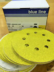 125mm SANDING DISCS SIA PRO QUALITY 8 HOLE VELC BACKED 320grit air sander x 50