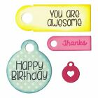 Tags  Words Sizzix Sentiments Stamp and Framelits Die Set by Stephanie Barnard