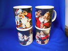 (4) Sakura Christmas Mugs COCA COLA 3 3/4