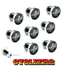 9 Pcs Billet Fairing Windshield Bolt Kit For Harley - SKULL FINGER FU - 061