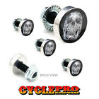 5 Pcs Billet Fairing Windshield Bolt Kit For Harley - CHROME SKULL - 050