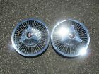 Lot of 2 1966 Oldsmobile 98 Delta 88 wire spoke spinner hubcaps wheel covers