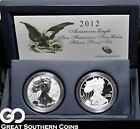 2012 American Eagle Silver Dollar San Francisco 2 Coin Silver Proof Set