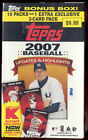 2007 Topps Update Highlights Baseball SEALED BOX 10 Packs - Rookies Inserts