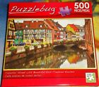 500 PIECE JIGSAW PUZZLE - COLORFUL STREET WITH BEAUTIFUL HOUSES  ( NEW )