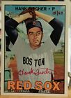 2016 HERITAGE REAL ONE AUTOGRAPH RED INK 15 67 INSERT CARD OF HANK FISHER NO. HF