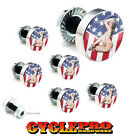 7 Pcs Billet Fairing Windshield Bolt Kit For Harley - GIRL USA FLAG - 173