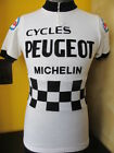 PEUGEOT ESSO proteam TDF 1976 81 VINTAGE ACRYLIC CYCLING JERSEY Sz 2