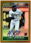 2006 Bowman Chrome Josh Barfield Gold Refractor Autograph #32 50 - Padres
