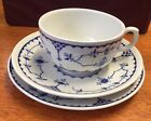 English FURNIVALS china TRIO cup plate saucer    DENMARK blue white.